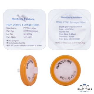 100 x Syringe Filters 30mm PTFE Sterile 0.22um / 0.45um