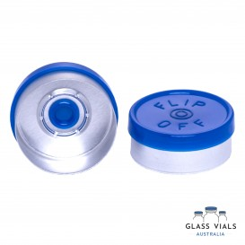 Plastic Flip Top Lids - Gloss with Logo   Glass Vials Australia
